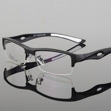 Montura para gafas deportivas para hombre, diseño distintivo, cómodo, TR90, medio Marco, cuadradas, montura para gafas deportivas, 1077