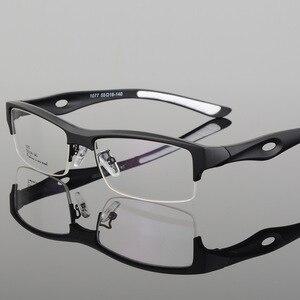 Image 1 - الرياضة إطار مشهد جذاب رجالي تصميم مميز مريح TR90 نصف إطار مربع نظارات رياضية إطار eyeglass s1077