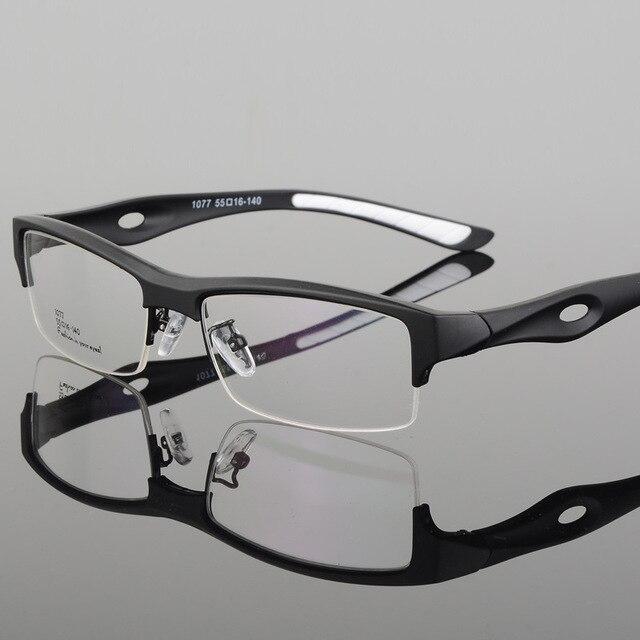 الرياضة إطار مشهد جذاب رجالي تصميم مميز مريح TR90 نصف إطار مربع نظارات رياضية إطار eyeglass s1077