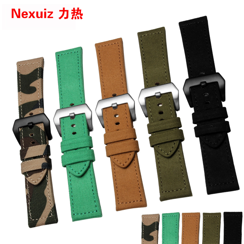2016 New Arrival Watchbands Luxurious watch Sport men/women watch <font><b>bracelet</b></font> 24mm nylon straps for <font><b>PAM</b></font> Free shipping image