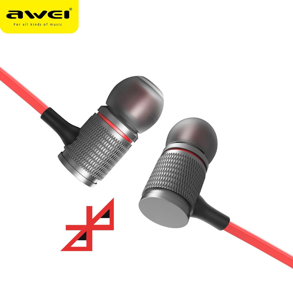 AWEI T12 Bluetooth Cuffia Senza Fili Cuffia Auricolare Per Il Telefono Auriculares kulakl k Cordless Auricolare Bluetooth V4.2 Casque