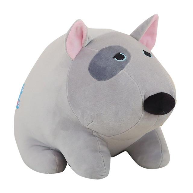 cute chubby bull terrier plush toy gift soft fun dog toy novelty birthday present 27cm