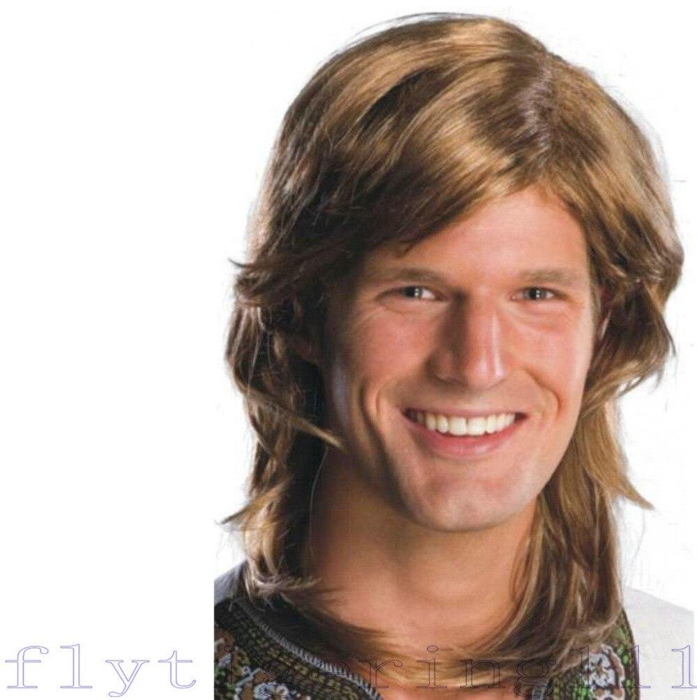 wig adult mens long hair disco