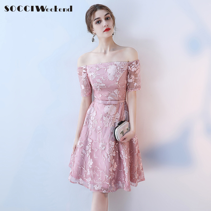 socci weekend short pink elegant cocktail dress 2017