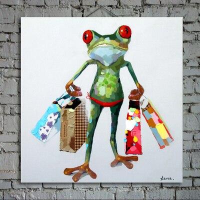 nástěnná výzdoba olejomalba moderní olejomalba na plátně abstraktní malba žába princ umění moderní malby AN-110