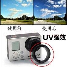 2 шт. GoPro UV крышка объектива оптический Стекло крышка объектива для GoPro Hero 4/3+ издание Камера защитные аксессуары
