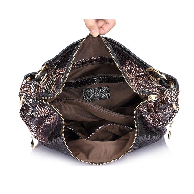 Luxury Snake Skin Leather Shoulder Bag