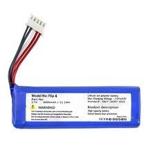 Аккумулятор для JBL Flip 3 и 4 плеера Flip3 Flip4 литий-полимерный перезаряжаемый аккумулятор Замена 3,7 в 3000 мАч GSP872693& 01