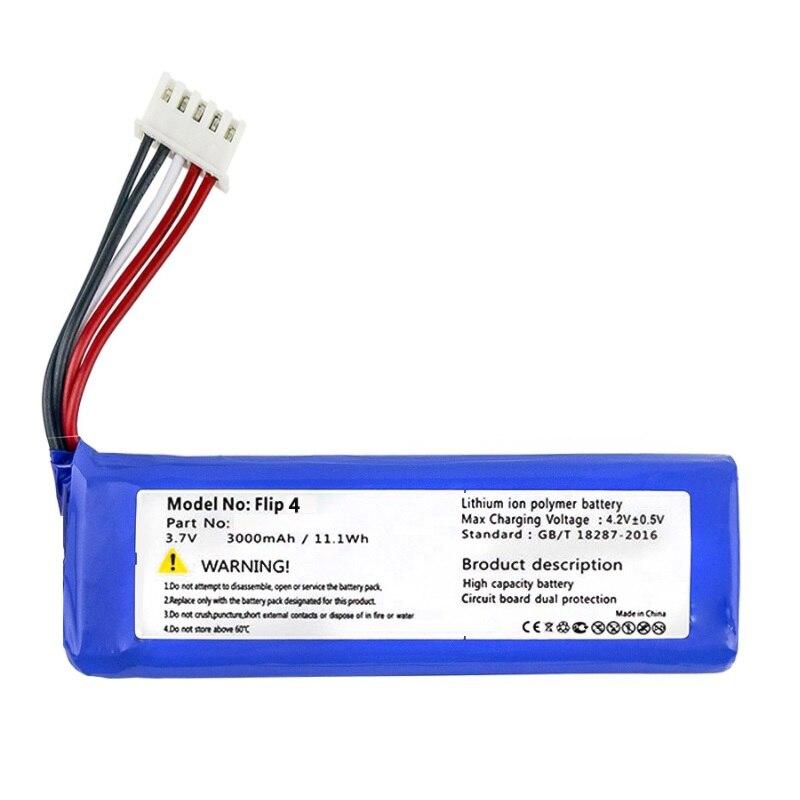 Batterie pour JBL Flip 3 & 4 Player Flip3 Flip4 nouveau Li polymère accumulateur Rechargeable Pack remplacement 3.7V 3000mAh GSP872693 & 01