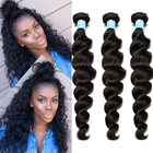 "3 loose Wave Bundles Deals Brazilian Virgin Hair Extensions 10-28"" Honey Queen Hair Products Natural Color Human Hair Weaving"