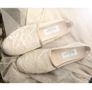 2013 free shipping espadrilles woman lace shoes famous brand summer spring ballet Loafer flat casual vintage boat driver