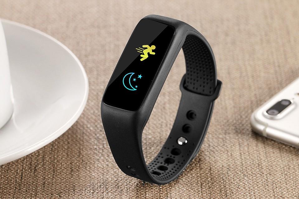 Lemfo l30t kolorowy ekran inteligentny zespół pulsometr krokomierz uśpienia fitness tracker dla andriod ios telefon 14