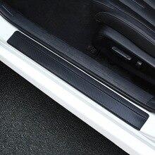 Универсальный автомобиль Стайлинг стикер 4 шт. набор 3D углеродного волокна порога Накладка предохранительные щитки дверные пороги протектор автомобильные аксессуары