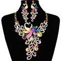 2017 New Africa Wedding Jewelry Sets Austrian Crystal Zircon Phoenix  Necklace Earrings For Women Bridal Jewelry Sets XG-G001