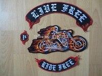 Огромная езда с пламенем 12 дюймов большой вышивкой нашивки для куртки мотоцикла Байкер езды бесплатно