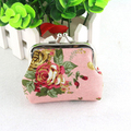 2017 New Women Retro Small Wallet Hasp Coin Purse Lady Vintage Flower Clutch wallets Bag coin pouch Good For Gift drop shipping