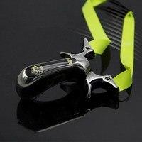 Tc21 titanium alloy slingshot competitive Flat rubber band sculpted precision outdoor elastic catapult