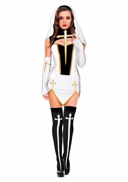 Extrêmement MILLYN Halloween Costume Femmes Sexy Nun Soeur Religieuse  PY72