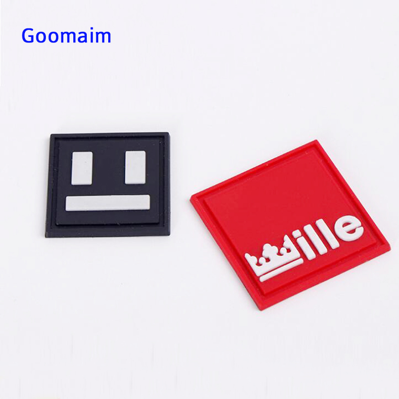 Custom 3D Rubber Patch PVC Patch For Germent Labels Hand Private Name Labels For Clothing DIY Decorate Handmade  Tag For Dress