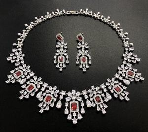Image 4 - HIBRIDE Elegant Russian Women Bridal Jewelry Set AAA Cubic Zircon Pave Necklace Earring Sets for Engagement Accessories N 1048