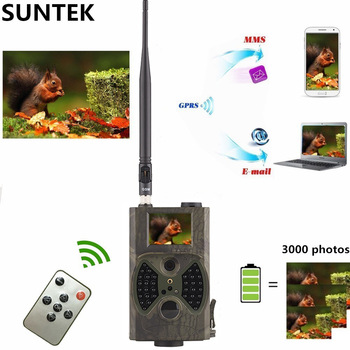 HuntingTrail Camera Cellular Mobile 2G MMS SMTP Photo Trap Night Vision Wireless Wildlife Surveillance Tracking HC300M 1