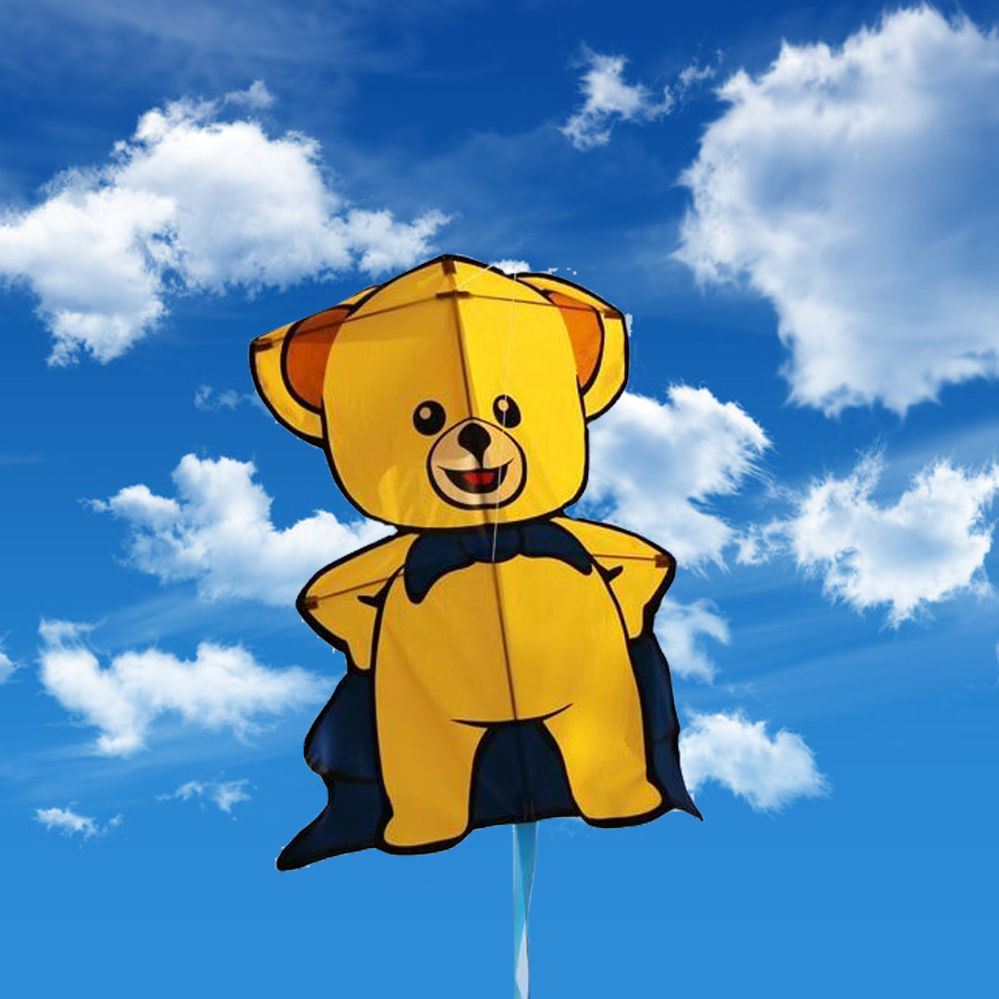 Cartoon Animal Bear Kite Single Line Kite Flying for Children Kids Outdoor Toys Beach Park Playing