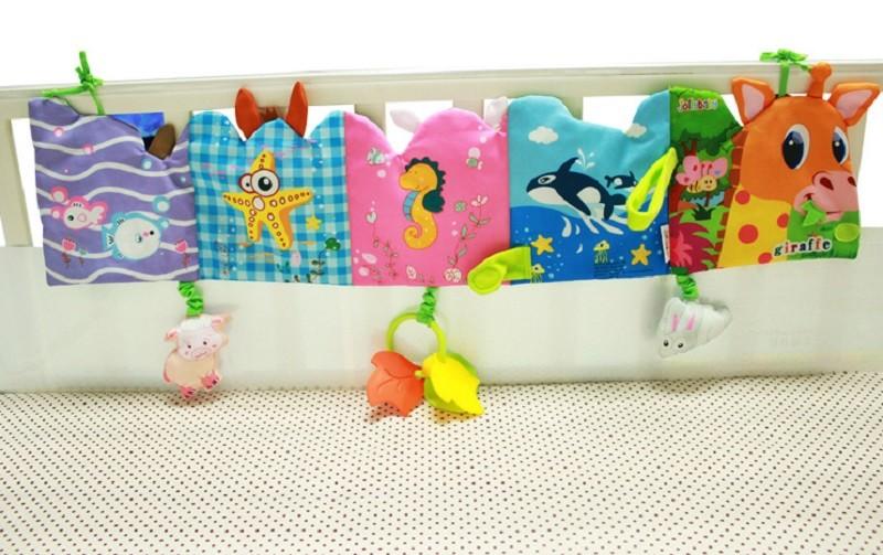 Infant Activity Book Cartoon Animal Soft Baby Educational Toy Cloth Book Plush Animal Story Intelligence Developing Toy KF030 9