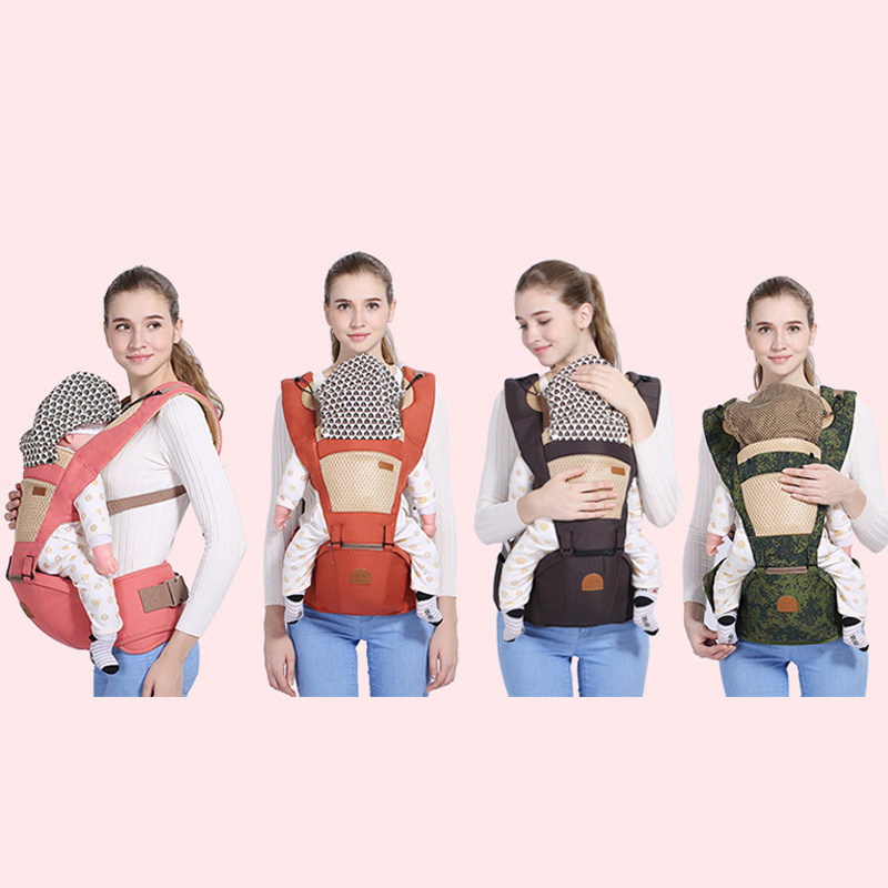 Купить с кэшбэком New Baby Carrier Cangaroo 0-36 Months Baby Sling Multifunctional Cotton Baby Backpack Breathable Ergonomic Carrier BackPack