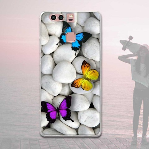 Silicone Case For Huawei P9 Case Back Cover For Huawei P9 EVA-L09 EVA-L19 EVA-L29 5.2 inch Phone Cases Painted Soft TPU Covers Multan