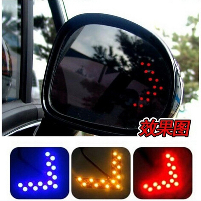 QvvCev Free Shipping 1 Pair 14 SMD LED Arrow Panels Light Car Side Mirror Turning Signal Indicator Light Car LED External