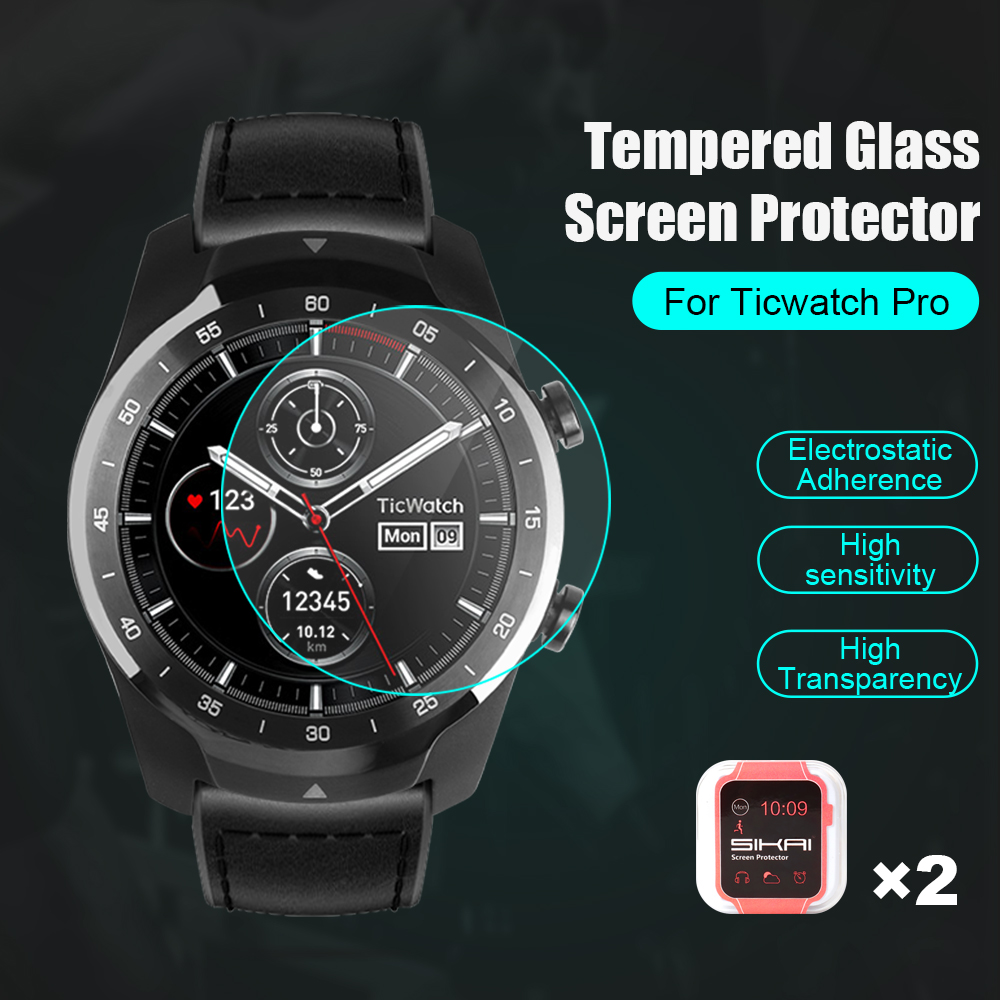 SIKAI Screen-Protector Smart-Watch Protective-Screen-Guards Tempered-Glass for 2pcs