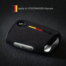 Germany style Car Key Cover Case Protector Bag for VW Golf 7 mk7 Seat Ibiza Leon FR 2 Altea Aztec For Skoda Octavia lll комплект электрики westfalia skoda octavia lll 02 13