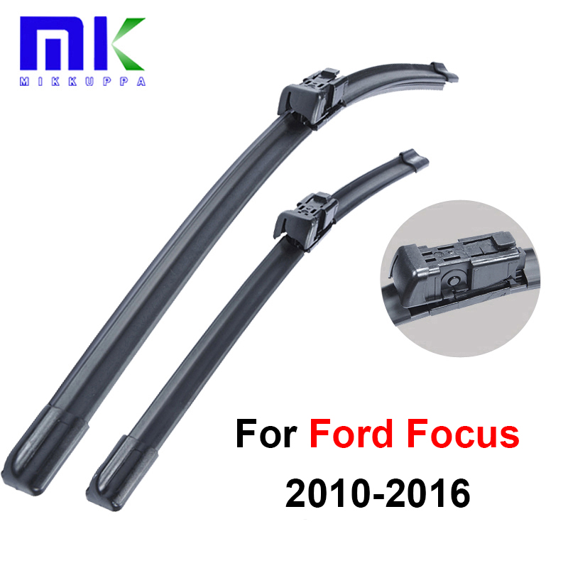 wiper blades for ford focus 3 2010 2011 2012 2013 2014 2015 2016 28 28 r silicone rubber. Black Bedroom Furniture Sets. Home Design Ideas