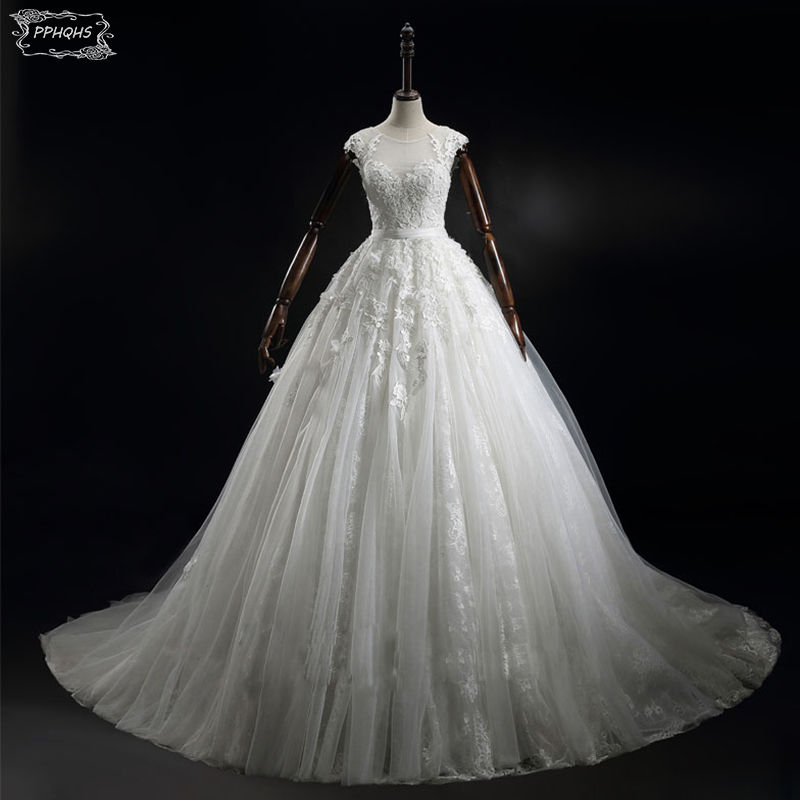 Real Maine Weddings 2017: Real 2017 Ball Gown Wedding Dresses Vintage Appliques 3D