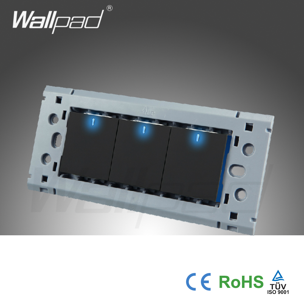 Hot Sale 3 Gang 2 Way Wall Light Switches Wallpad Push Button Switch Led Indicator In From Lights Lighting On Alibaba