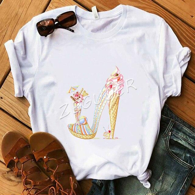 Pop Lady White Shirt Sweet...