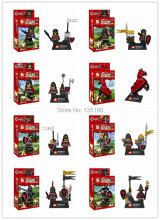 80pcs SY253 Super Heroes Black Dragon Knight Riders Royal Knights medieval soldiers Horse Action Figures Minifigure Toys blocks