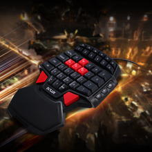Delux T9 47-Key Gaming Keyboard Professional One/Single Hand USB Wired Keyboards Esport Gamer Keyboard for lol cs go overwatch
