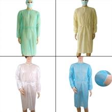 1 шт 4 цвета одноразовые медицинские чистые лабораторные Изоляционные Покрытия платье Хирургическая Одежда Аксессуары для татуировки