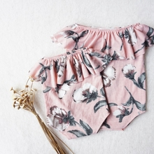 photography props baby girls romper newborn girl clothes floral off shoulder photo