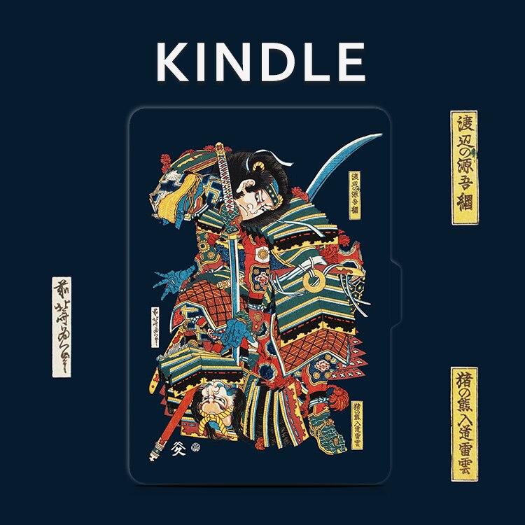 Guerrero diseño 2016 Nueva 8th caso Kindle paperwhite 3/2/1 Voyage 7th Kindle folio pu cuero imán amazon 6 pulgadas Conchas