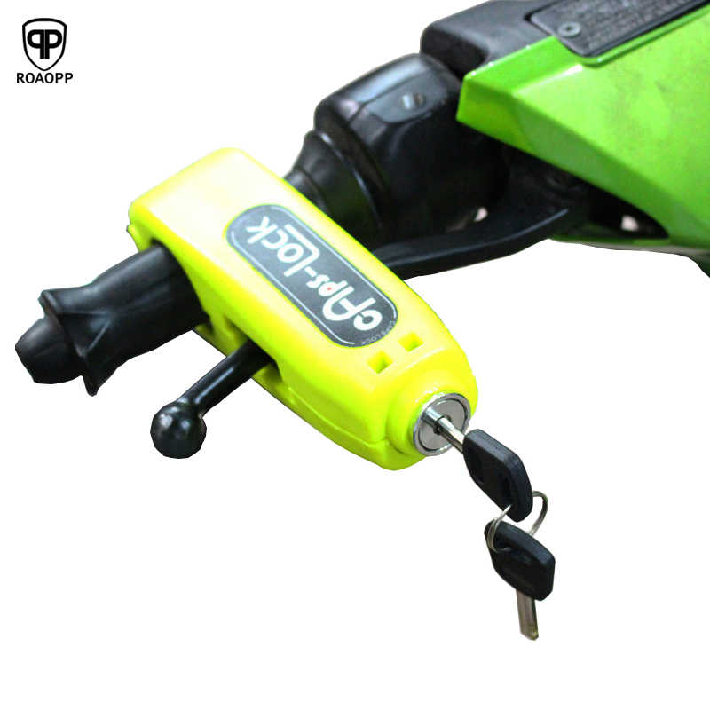 ROAOPP Universal Motorcycle Scooter Handlebar Safety Lock Brake Throttle Grip Security Lock Motorbike anti theft Protection