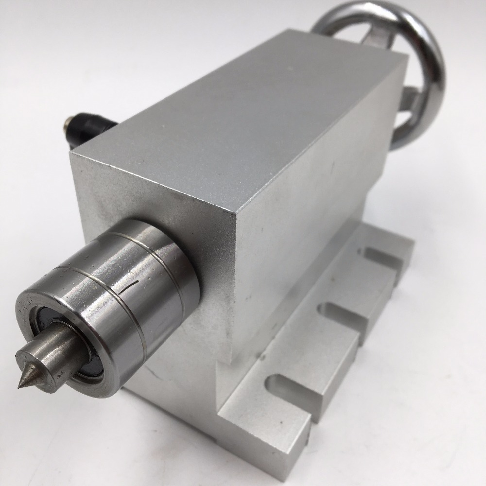 Center height 65mm 4th A axis Tailstock for CNC Router Engraving Milling Machine CNC Rotary Axis cnc tailstock rotary axis a axis rotary axis engraving machine chuck for cnc router