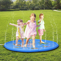 68 inch Outdoor Creative Sprinkler pad for Children Infants Toddlers, Boys, Girls and Kids Splash Play Mat Swimming Rings