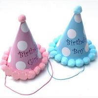 Brand New 10Pcs Pink Paper Party Cone Hats Dress Up Girls Boys Favour Supplies For Kids Child Birthday 7 Style