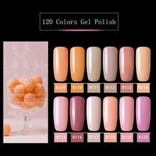 Modelones 12 Pz/lotto Rosa Serie di Colore UV Del Gel Del Chiodo Unghie Artistiche Impregna fuori dallo Smalto Led Ibrido Vernice Semi Permanente di UV smalto per unghie