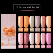 Modelones 12 sztuk/partia różowy kolor serii żel UV polski paznokci Nail Art Soak Off Led lakier hybrydowy paznokci Semi Permanent UV paznokci emalia