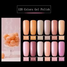 Modelones 12Pcs/Lot Pink Color Series UV Gel Nail Polish Nail Art Soak Off Led Nail Hybrid Varnish Semi Permanent UV Nail Enamel