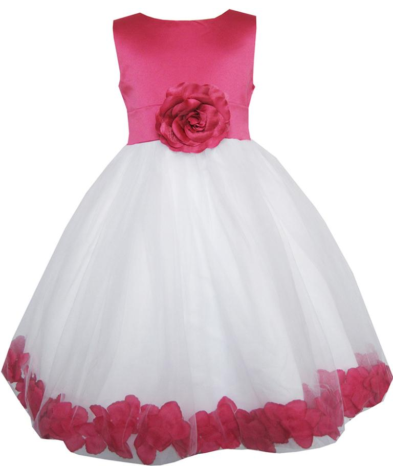 Sunny Fashion Girls Dress Rose Flower Tulle Wedding Pageant Bridesmaid Kids Clothes 2017 Summer Princess Party Dresses Size 2-14 girls dress ruffles tulle tiered dress sequin party birthday princess 2016 summer wedding dresses kids clothes size 4 12 pageant