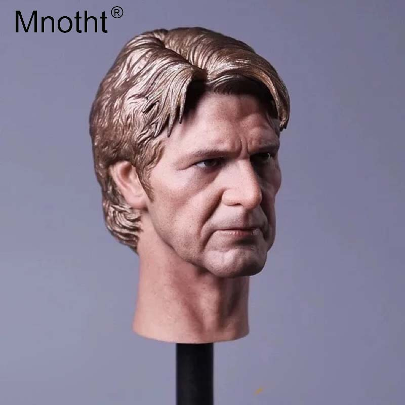 Mnotht Male Soldier Head Carving Model 1/6 Scale Old age Edition Han Solo Head Sculpt Toys Hobbies Collections m3 mnotht new 1 6 scale siberian husky model simulation animal pet dog model toys for 12in soldier toy scene collections hobbies